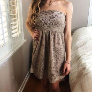 2 LEFT XS & S Boho Chic Mocha Embroidered Dress